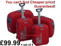 Chiba-Nari-Japan x4pcs High Quality Suitcase Trolley Cabin Luggage - Hard shell 4 locks Anti-Shatter
