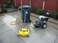Cobra PowerWasher + Whirlaway flat surface cleaner