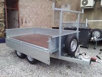 NEW BRONISS 8X5 DROPSIDE BUILDERS TRAILER SAVE £200 OF R.R.P