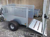Quad Trailer with meshsides and ramp door perfect for sheep