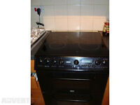 60cm Electric cooker fan oven, Grill, Ceramic Hob