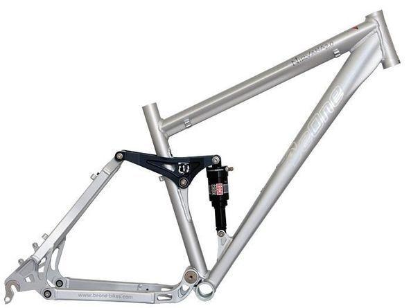 Be-one Nirvana 2.0 Alloy Full Suspension 21inch mountain bike frame ...