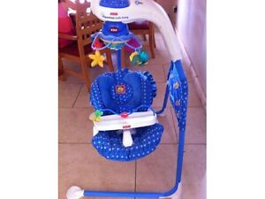 Cradle Swing-Speeds,Music,Positions,Light,Washable,Harness