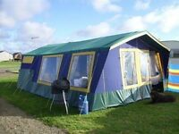 sunncamp trailer tent with 4. 4 metre awning. everything included ,