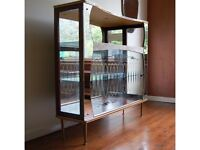1950's Mirrored Cocktail/Display Cabinet