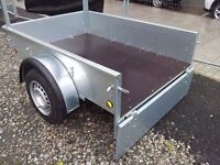 New galvanised car trailers with front ladder rack