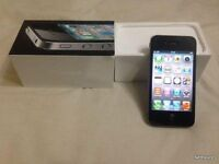 apple iphone 4 black unlocked open o2 02 ee t mobile virgin tesco 3 vodafone any sim giff gaff