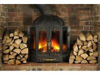 Hardwood logs ready to burn seasoned firewood