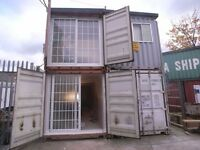 2x Converted 40ft Containers -Great Office/Workshop/Studio..Heating, Windows. Kitchen and Bathroom