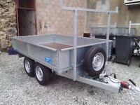Builders dropside trailer