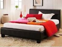 Brand New Single/Double/King size PU Leather Bed Frame & Choice of Orthopedic/Memory Foam Mattresses