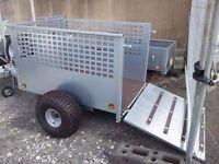 "5x3'3"" OFF ROAD GALVANISED QUAD TRAILER MESHSIDE & RAMP SUZUKI ATC HONDA YAMAHA TRACTOR ATV"