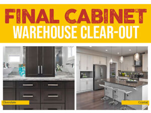 SASKATOON CABINET STORE CLOSING – INVENTORY CLEAR-OUT