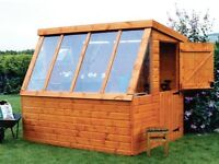 Potting Pent Tongue & Groove Garden Shed All Sizes From £780 Inc Delivery & Erection 0161 962 9127