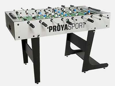 Football Table Folding Foosball Soccer Table ProyaSport S11 in Grey & Black