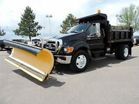 2007 Ford F-750 Dump truck with full snow plow package