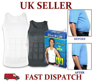 MENS-SLIMMING-BODY-SLIM-N-LIFT-SHAPER-BELLY-BUSTER-UNDERWEAR-VEST-COMPRESSION