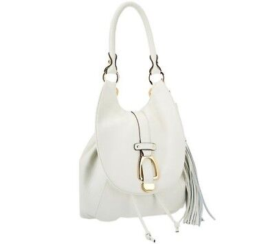 G.I.L.I Leather Convertible Backpack Purse Winter White/Ivory NWT  Ivory White Leather