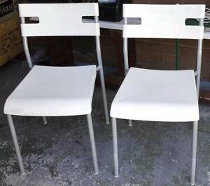 set of 4 white chairs for sale Glen Waverley Monash Area Preview