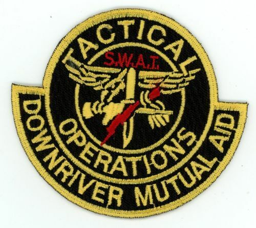MICHIGAN MI DOWNRIVER MUTUAL AID TACTICAL OPERATIONS NEW PATCH POLICE SHERIFF