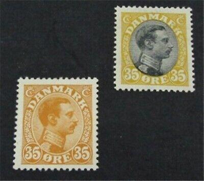 nystamps Denmark Stamp # 114.115 Mint OG H $38   L23y206