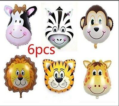 Aluminum Foil Balloons 6PCS Cartoon Animal Balloon Funny Kids Party Decoration