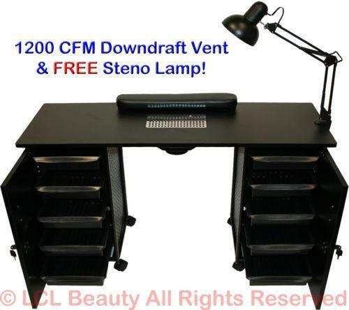 Vented manicure table salon spa equipment ebay for Nail salon equipment and supplies
