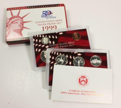 1999 Silver Proof Coin Set Ebay