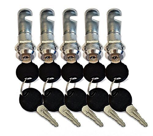 CamLock Cabinet Keyed Cam locks Pack of 5 Keyed Alike lock, RV Door, drawer