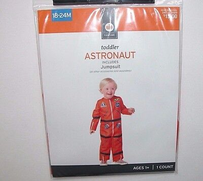 NWT NEW Halloween Costume Astronaut 18-24 month Infant Toddler Orange - Astronaut Toddler Halloween Costume