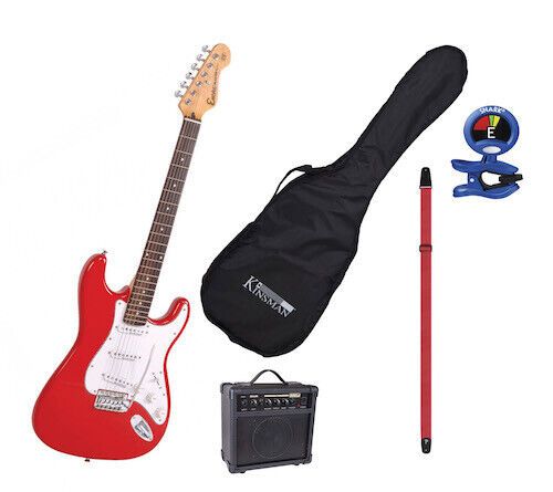 Starter Electric Guitar Kit with Amp + Bag + Lead +Tuner + Strap xmas gift