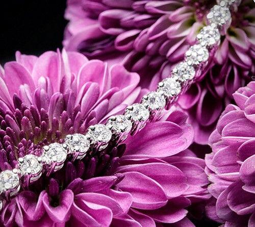 Diamond Tennis Bracelet Mothers Day Gift 5.50 Carat Certified Round H/si 14k
