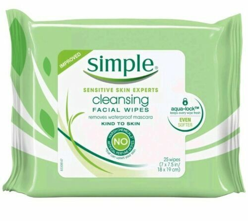 Simple Clean Face Wipes Size 25ct Simple Clean Face Wipes 25