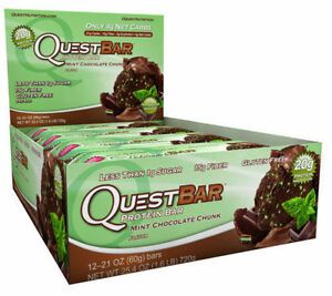 e9d011e239ea Quest Protein Bar MINT Chocolate Chunk 12 Bars for sale online