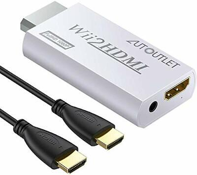 Wii to HDMI Converter Output Video Audio Adapter, with 1M HDMI Cable