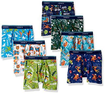 Hanes Boys 7-Pack Dyed Boxer Briefs