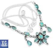 Blue Fire Opal Necklace