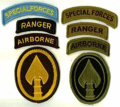 US SPECIAL OPERATIONS COMMAND - ARMY ELEMENT -  PATCHES & TABS - COLOR & SUBDUED