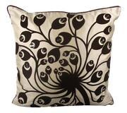 Cream Sequin Cushion