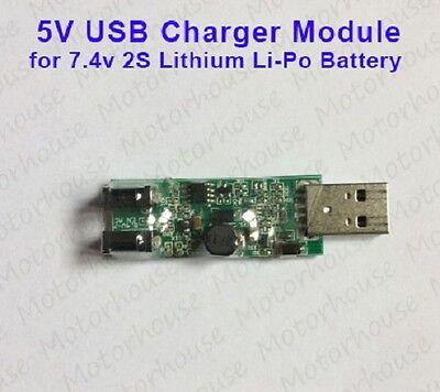 5v Usb Charger Module For 2s 7.4v Lithium Li-ion Li-po 18650 Battery Packs 8.4v