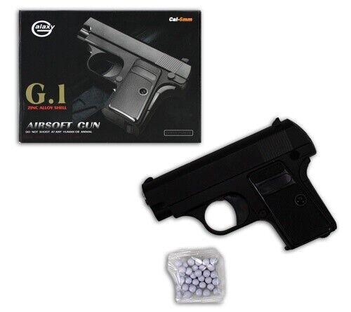 Kleine Pistole aus voll Metall - Waffen Softair Plastik Kugelpistole - Airsoft