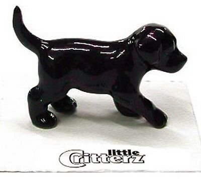 Black Labrador Retriever Figurine - ➸ LITTLE CRITTERZ Dog Miniature Figurine Labrador Retriever Lab Black Shadow