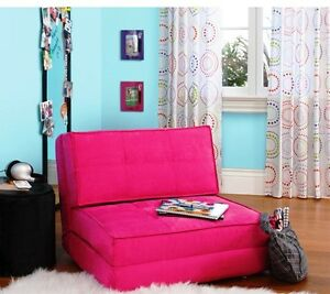 Your Zone Pink Magenta Chair Flip Out Convertible Sleeper