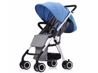 AIQI LIGHTWEIGHT BABY STROLLER 2016 - Blue - Brand New - Boxed