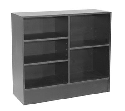Wrap Counter Wood Black Showcase Display Store Fixture Knocked Down Cw4bk-sc