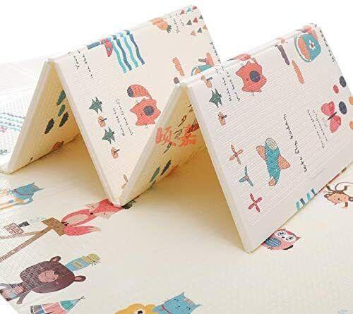 GROSSē 2Side Baby Kids Play Mat Crawling Soft Folding Waterproof Carpet