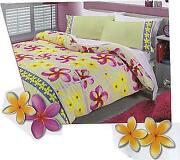 Frangipani Quilt Cover