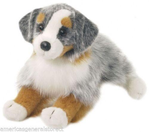 "SINCLAIR AUSTRALIAN SHEPHERD Douglas Cuddle 13"" stuffed plush animal toy dog"