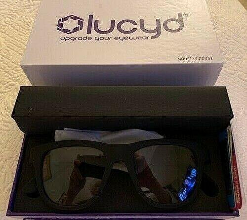 LUCYD BLACK MATTE SMART SUNGLASSES W/ BLUETOOTH AUDIO DEVICE MODEL LCD001