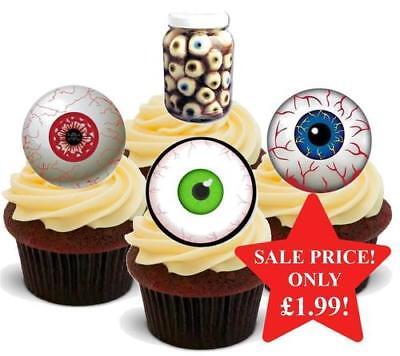 Halloween Eyeball Mix Stand Up Premium Card Cake Toppers](Halloween Mix Up)